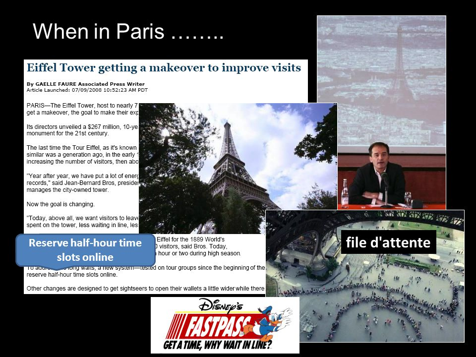 When in Paris …….. Reserve half-hour time slots online file d attente