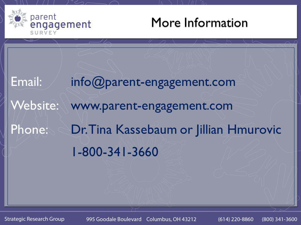 More Information Email:info@parent-engagement.com Website:www.parent-engagement.com Phone:Dr.