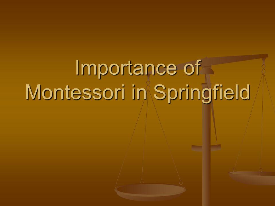 Importance of Montessori in Springfield