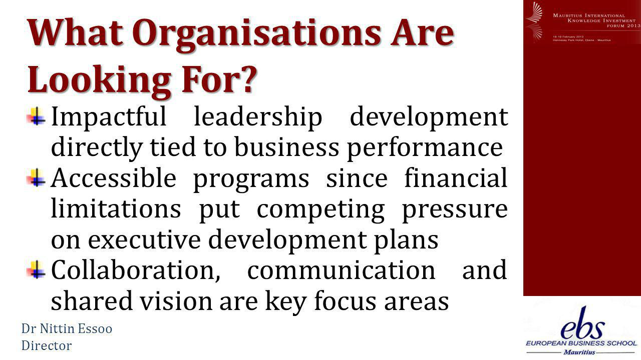 www.mikif.com What Organisations Are Looking For.