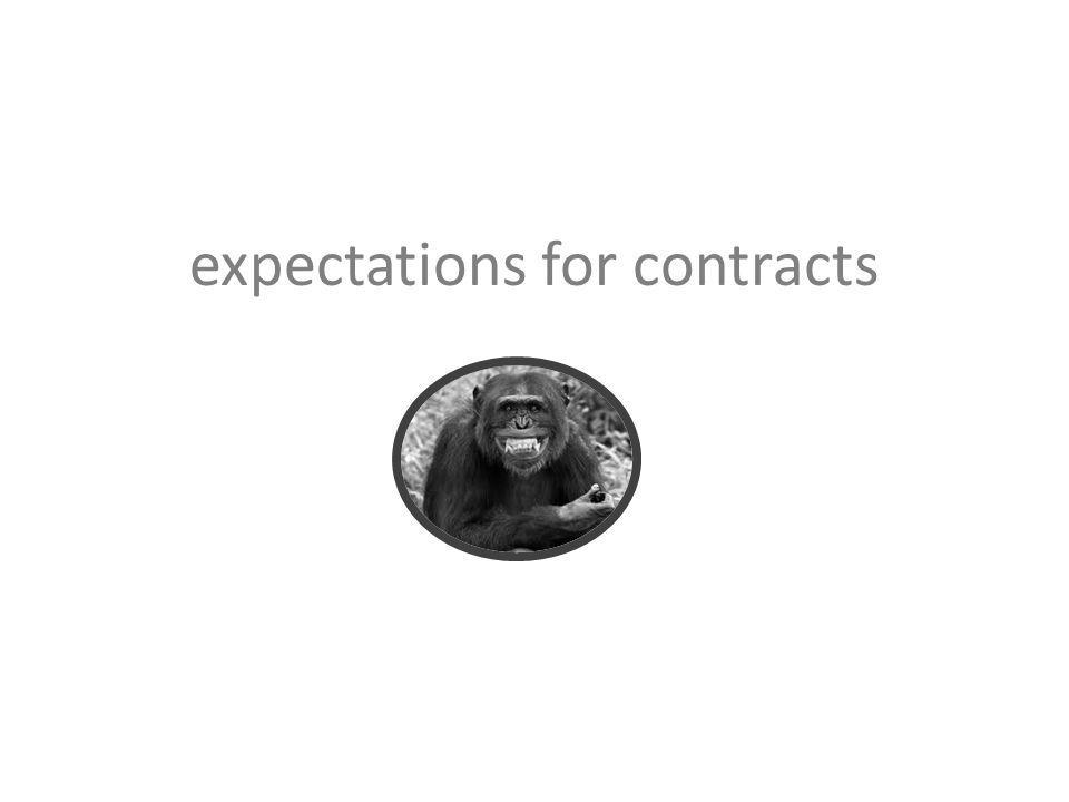 expectations for contracts