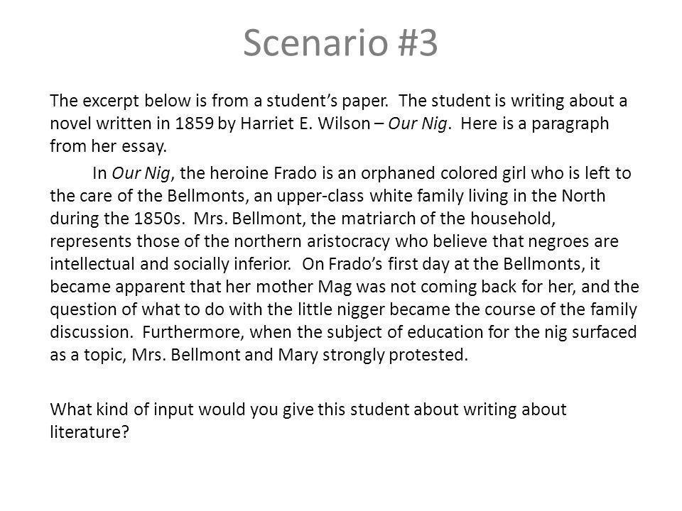 Scenario #3 The excerpt below is from a students paper.
