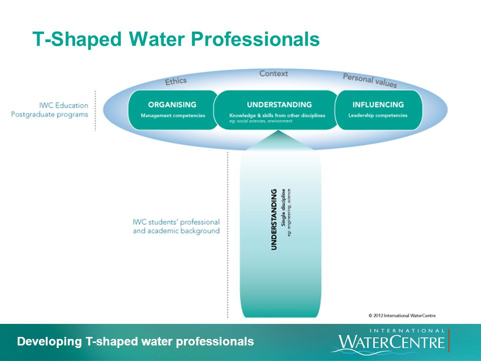 T-Shaped Water Professionals Developing T-shaped water professionals