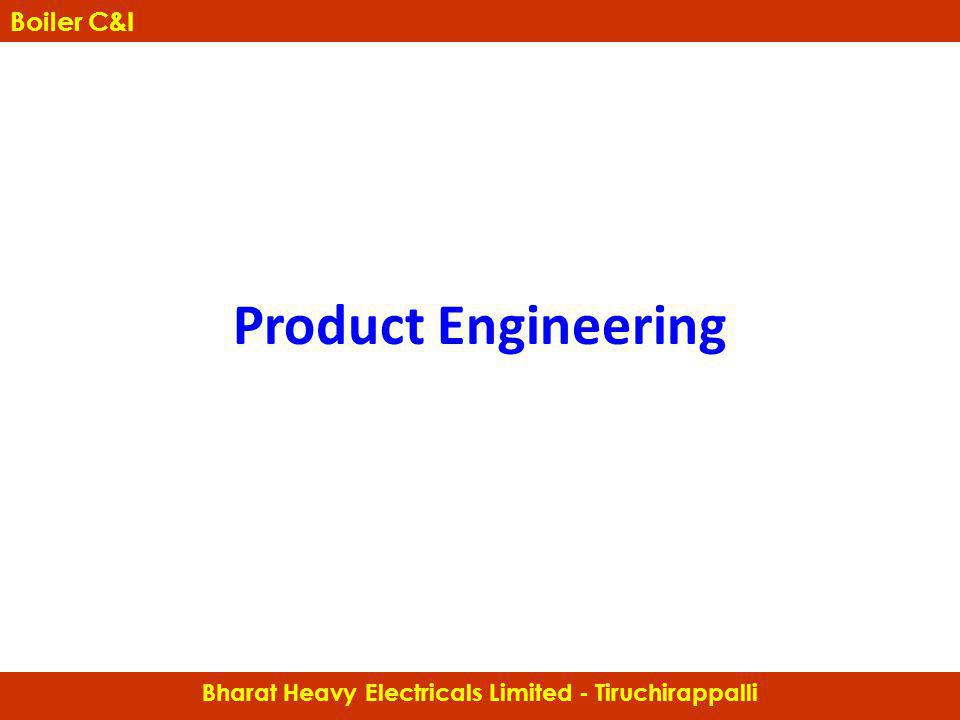 Bharat Heavy Electricals Limited - Tiruchirappalli Boiler C&I Product Engineering