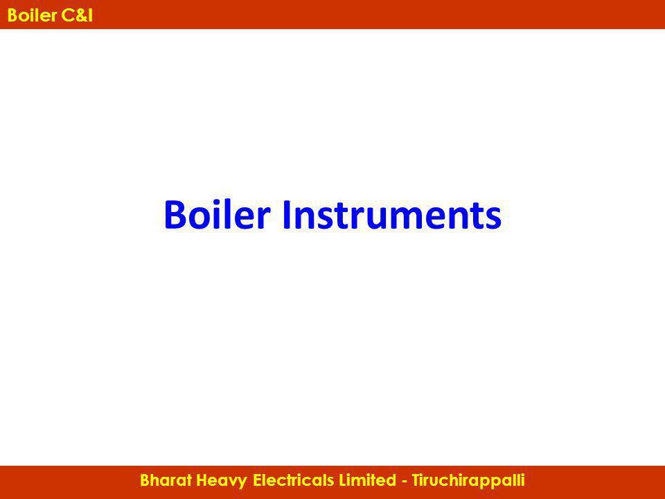 Boiler Instruments Bharat Heavy Electricals Limited - Tiruchirappalli Boiler C&I