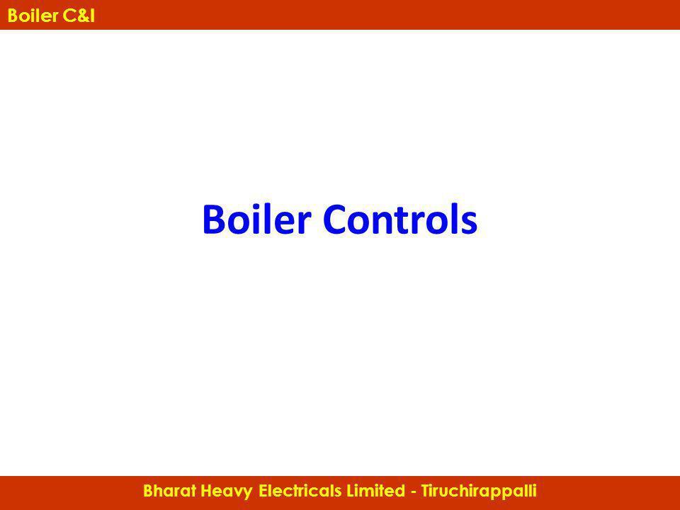 Boiler Controls Bharat Heavy Electricals Limited - Tiruchirappalli Boiler C&I