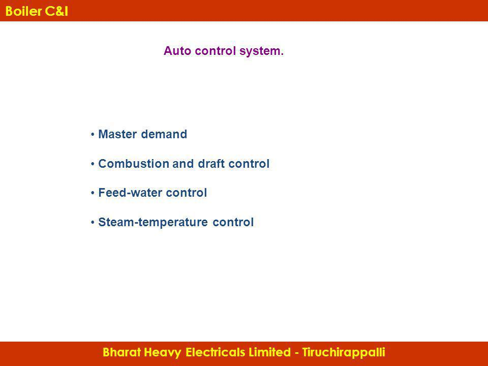 Bharat Heavy Electricals Limited - Tiruchirappalli Boiler C&I Master demand Combustion and draft control Feed-water control Steam-temperature control