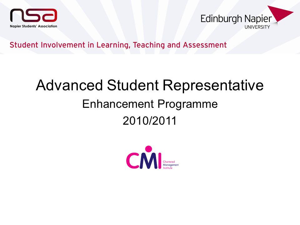 Advanced Student Representative Enhancement Programme 2010/2011