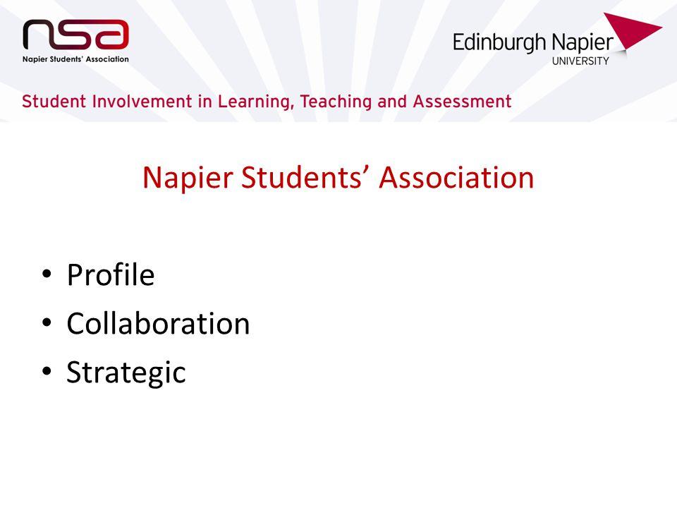 Napier Students Association Profile Collaboration Strategic