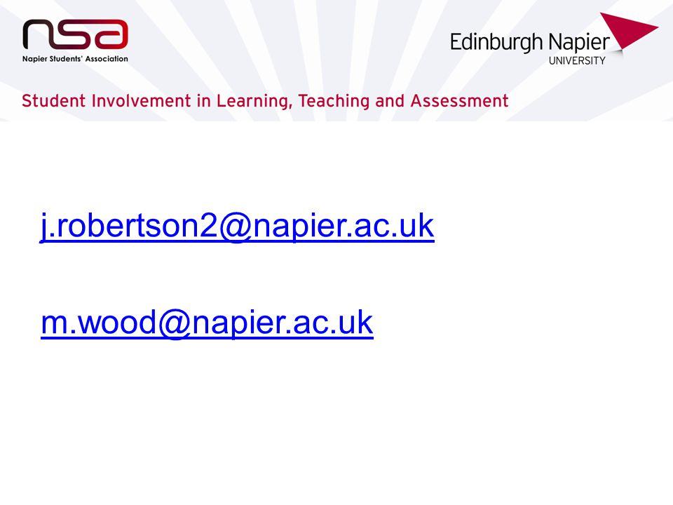 j.robertson2@napier.ac.uk m.wood@napier.ac.uk