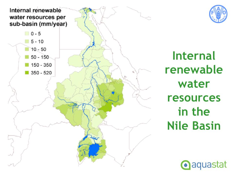 Internal renewable water resources in the Nile Basin