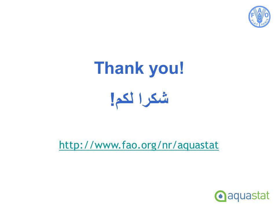 Thank you! http://www.fao.org/nr/aquastat شكرا لكم!