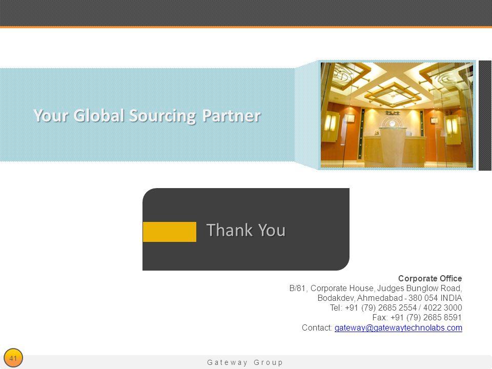Gateway Group Corporate Office B/81, Corporate House, Judges Bunglow Road, Bodakdev, Ahmedabad - 380 054 INDIA Tel: +91 (79) 2685 2554 / 4022 3000 Fax