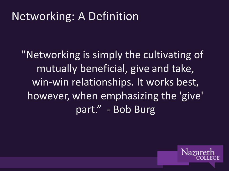 Networking: A Definition