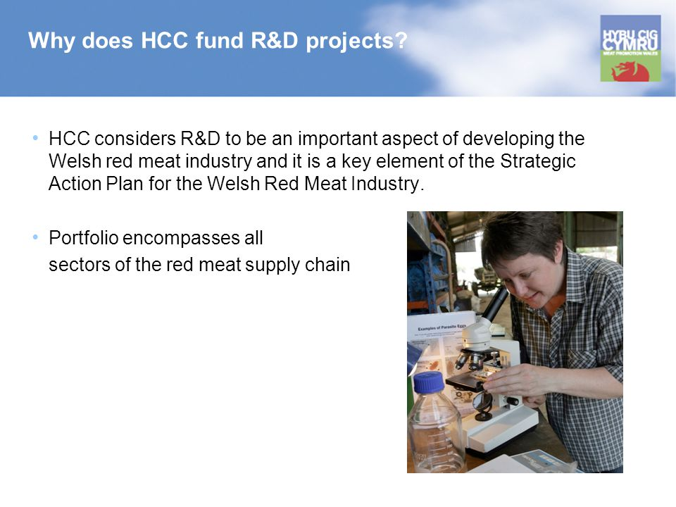 Why does HCC fund R&D projects.