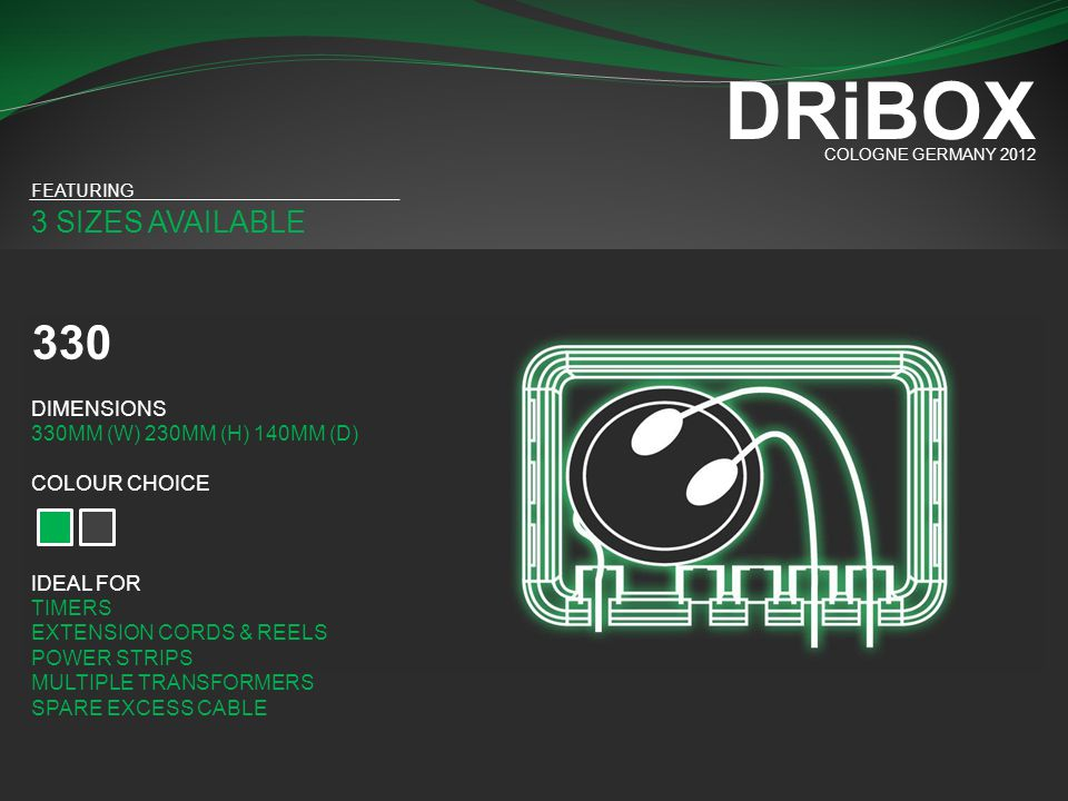 3 SIZES AVAILABLE COMBO DEAL DRiBOX COLOGNE GERMANY 2012