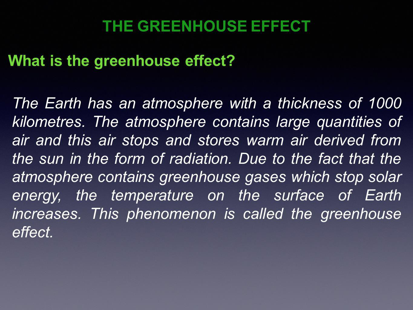How is the greenhouse effect created.