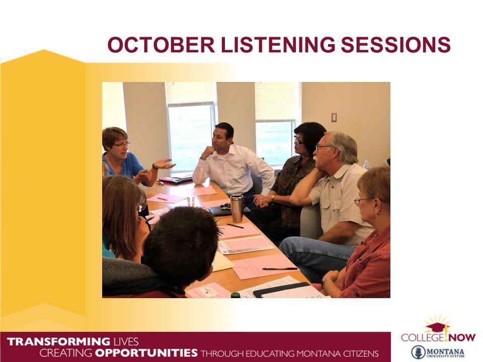 OCTOBER LISTENING SESSIONS