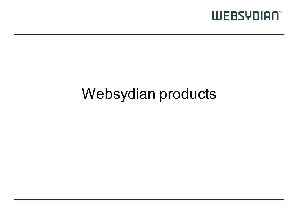 Websydian products