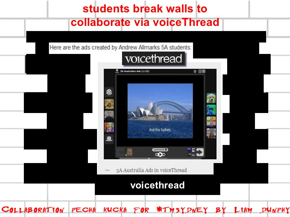 voicethread students break walls to collaborate via voiceThread