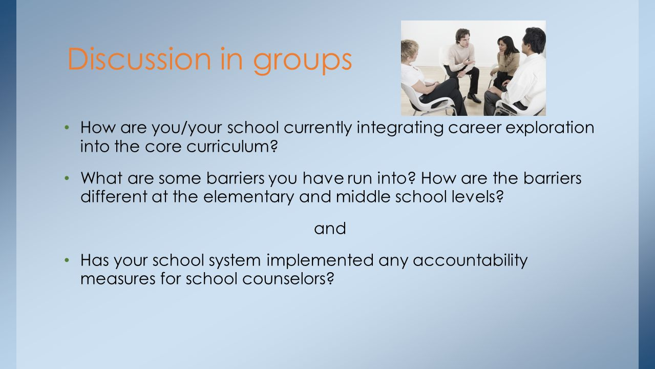 How are you/your school currently integrating career exploration into the core curriculum.