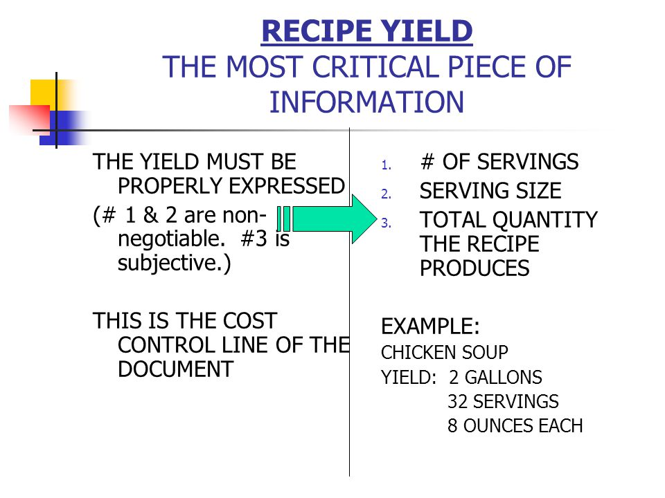 CALCULATING SF % 1.Identify those items in this category via recipes, inventory & invoices 2.