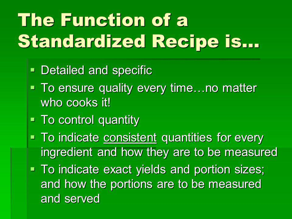 Cooking with Judgement 4 things to consider when you are making a recipe for the first time: 4 things to consider when you are making a recipe for the first time: What are… What are… The basic cooking methods The basic cooking methods Characteristics of the dish Characteristics of the dish The function of each ingredient The function of each ingredient The overall cooking times The overall cooking times