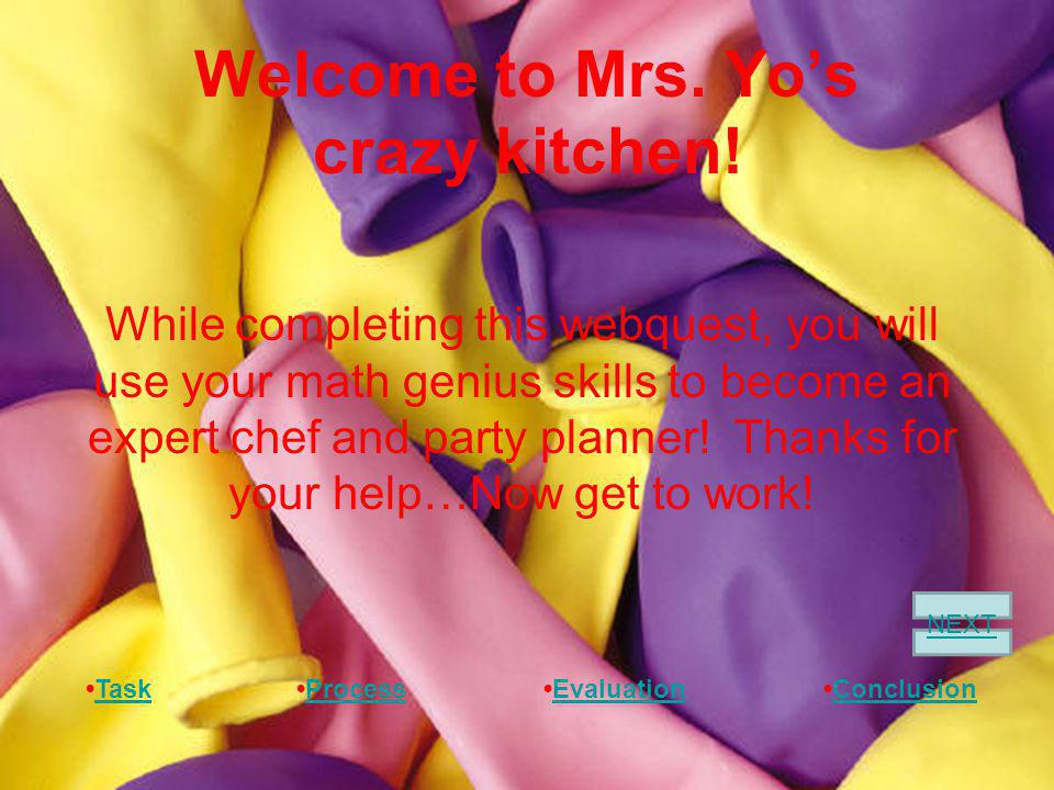 Welcome to Mrs. Yos crazy kitchen.