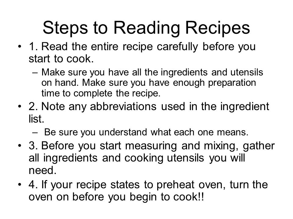 Recipes Cont Successful Results: For successful results, follow recipe directions exactly.