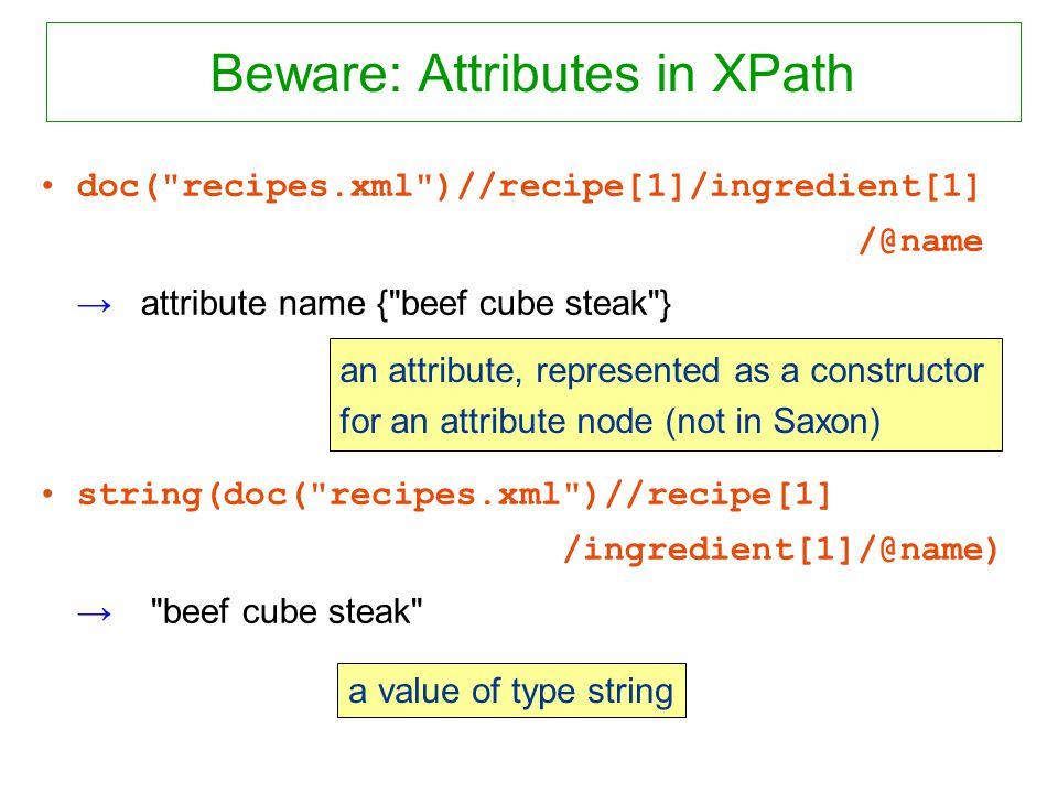Beware: Attributes in XPath doc(