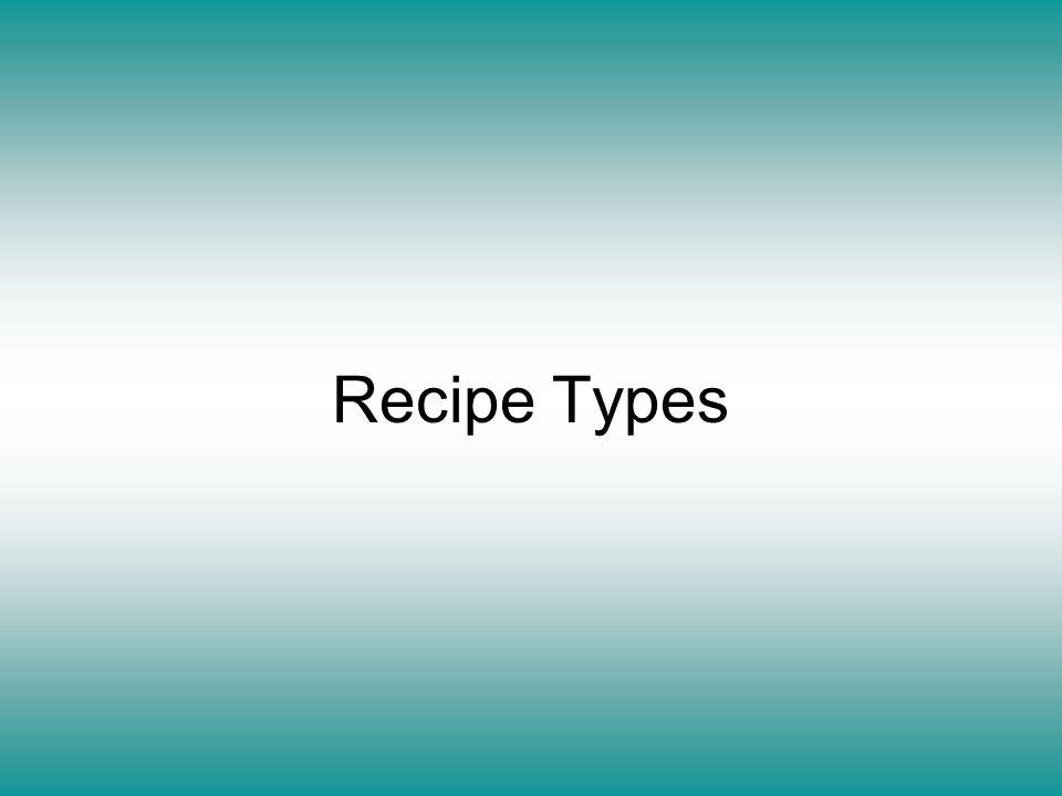Recipe Types