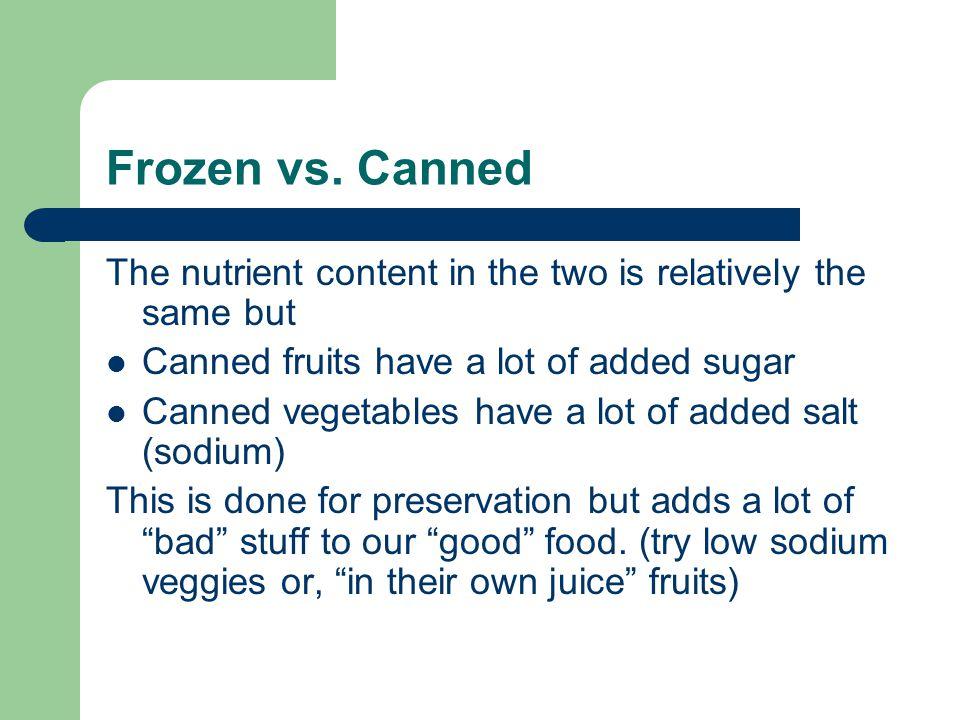 Frozen vs.