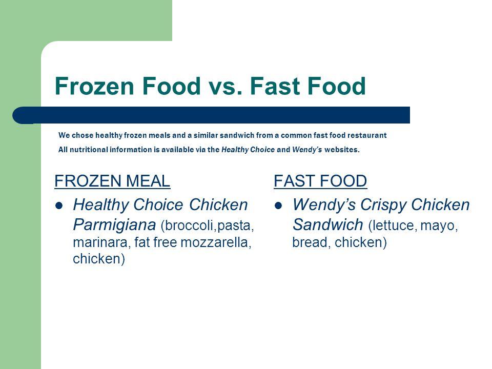 Frozen Food vs.
