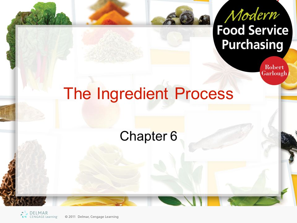 The Ingredient Process Chapter 6