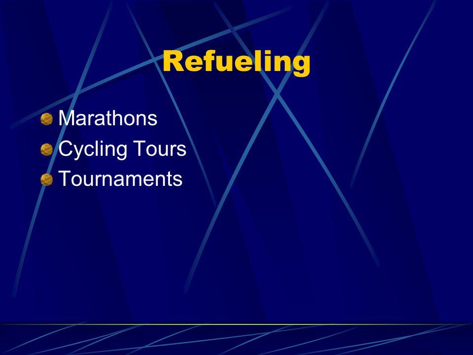 Refueling Marathons Cycling Tours Tournaments
