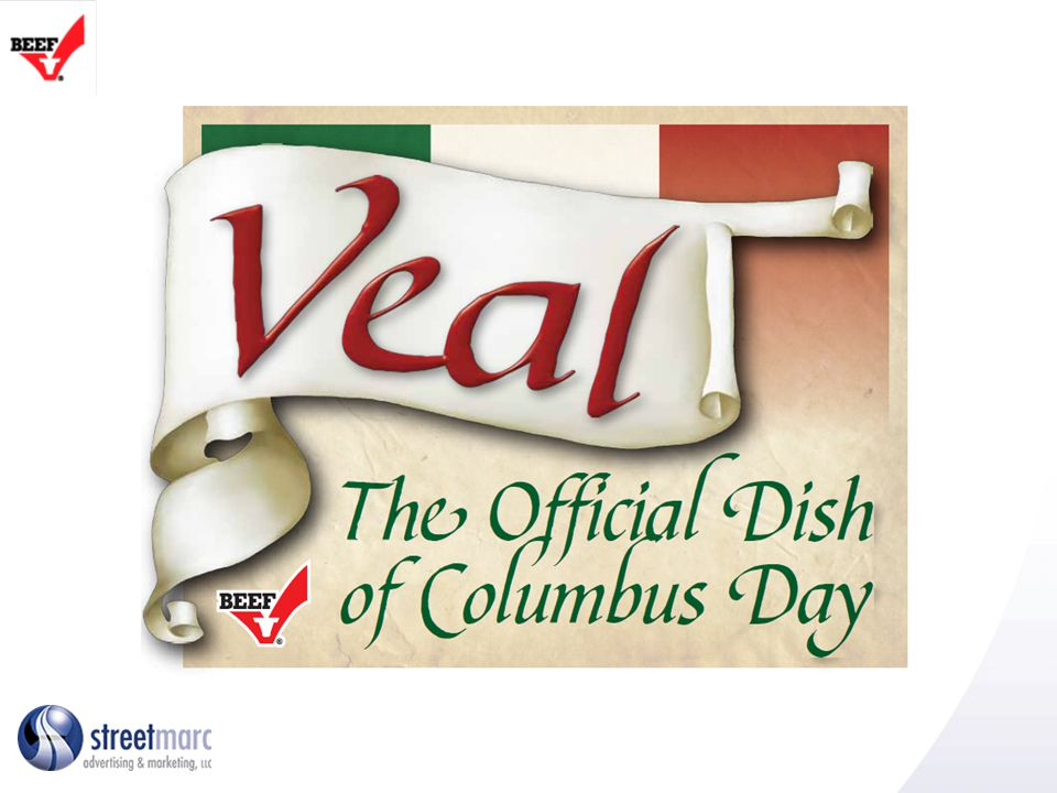 Media Campaign TV and Other Media advertising: TV spots will air in top markets with large Italian population/influence and Italian festivals/Columbus Day celebrations: New York City, Boston/New England, Philadelphia, Washington D.C.