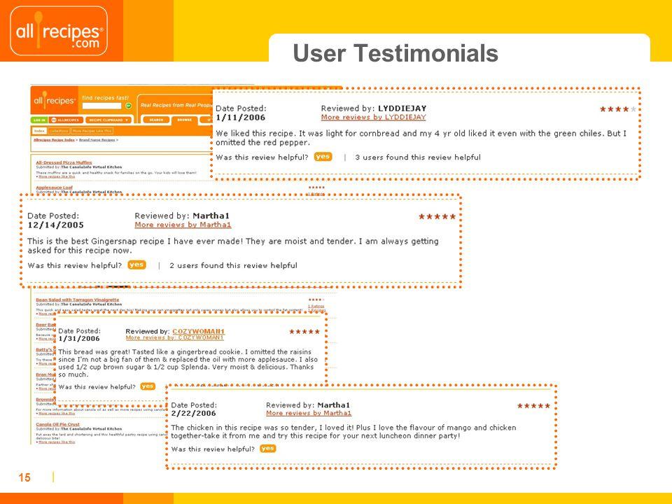 | 15 User Testimonials