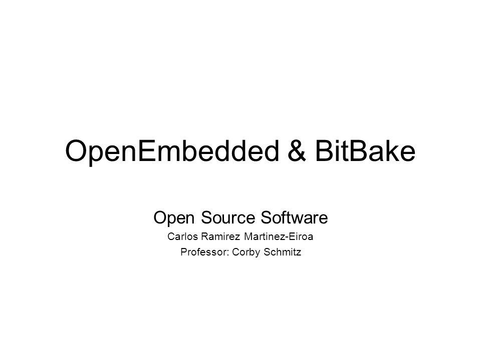 Index Build Tools Make Ant Maven OpenZaurus OpenEmbedded BitBake