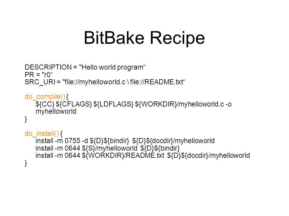 BitBake Recipe DESCRIPTION =