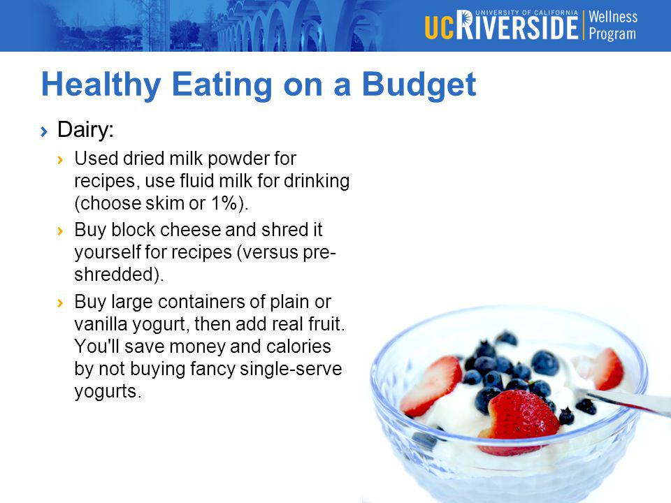 Healthy Eating on a Budget More Healthy on Eating on a Dime: Bring Your Own Lunch To Work Bringing leftovers is a great way to save time and money.