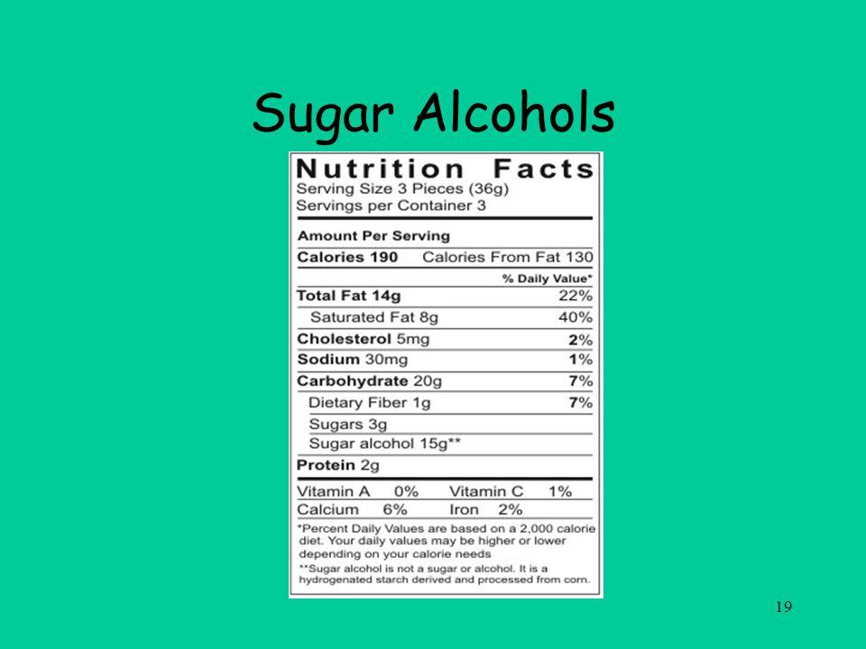 19 Sugar Alcohols