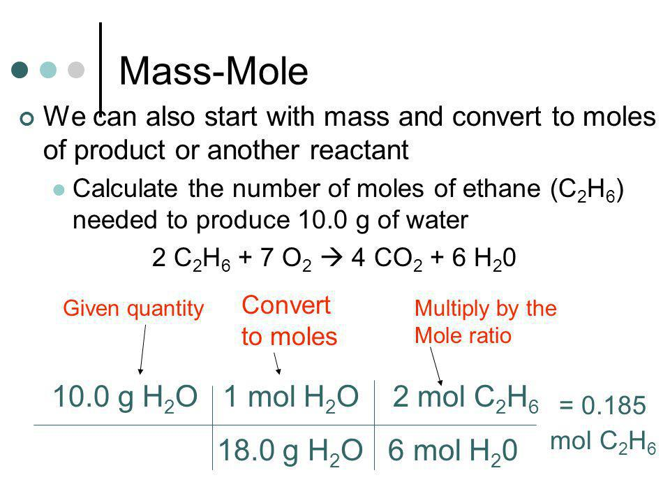 Practice Calculate the mass in grams of Iodine required to react completely with 0.50 moles of aluminum.