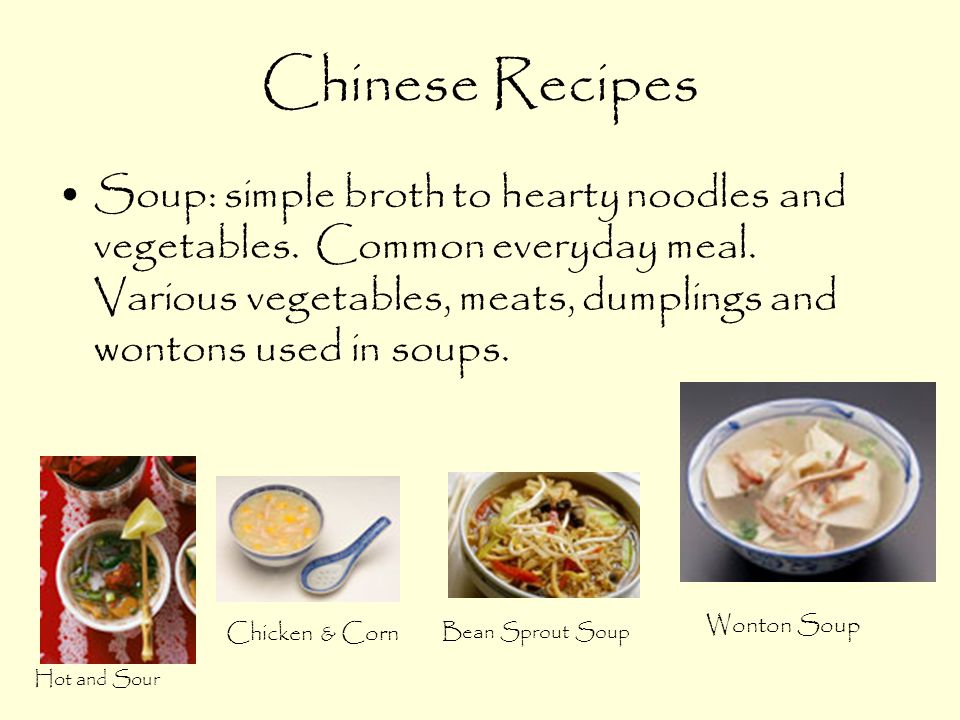Chinese Recipes Soup: simple broth to hearty noodles and vegetables.