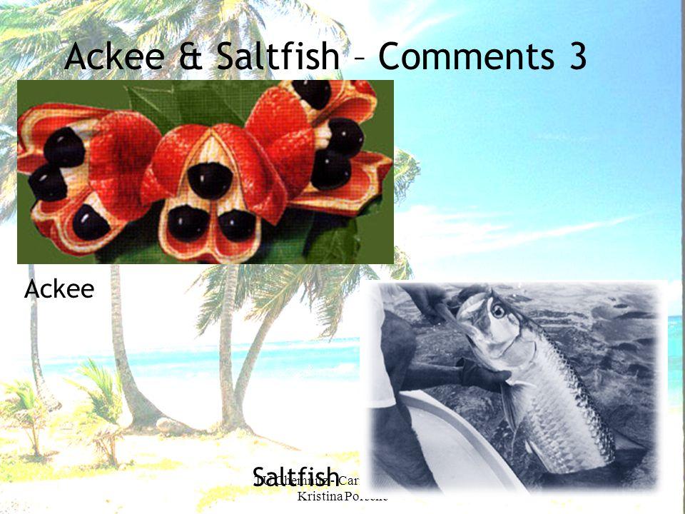 TU Chemnitz - Caribbean Food - Kristina Porsche Ackee & Saltfish – Comments 3 Ackee Saltfish