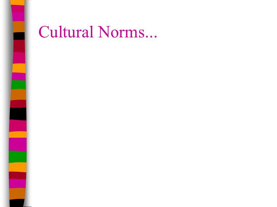 Cultural Norms...