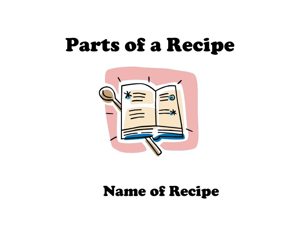 Name of Recipe