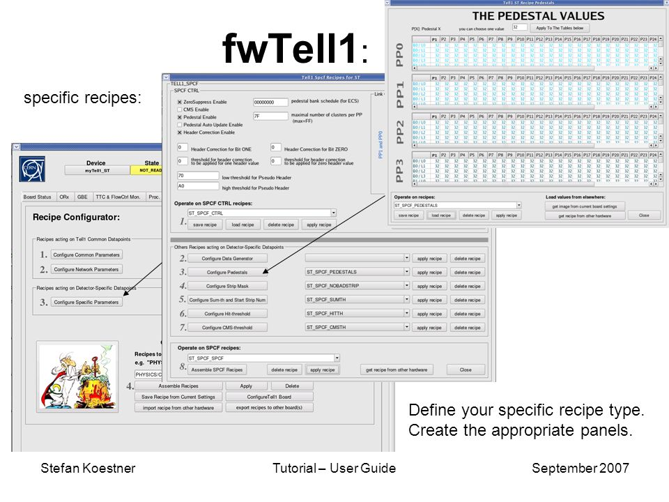 Stefan KoestnerTutorial – User GuideSeptember 2007 fwTell1 : Define your specific recipe type. Create the appropriate panels. specific recipes: