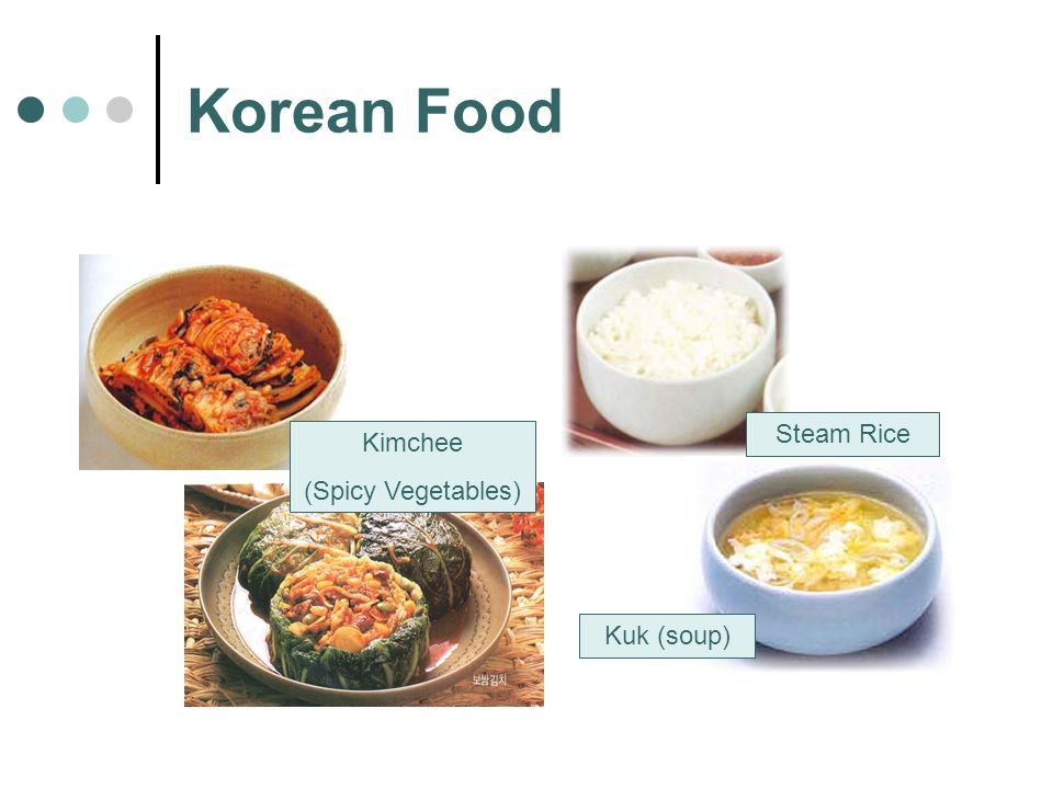 Korean Food Kimchee (Spicy Vegetables) Steam Rice Kuk (soup)