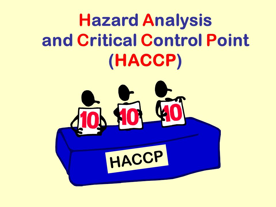 Hazard Analysis and Critical Control Point (HACCP) HACCP