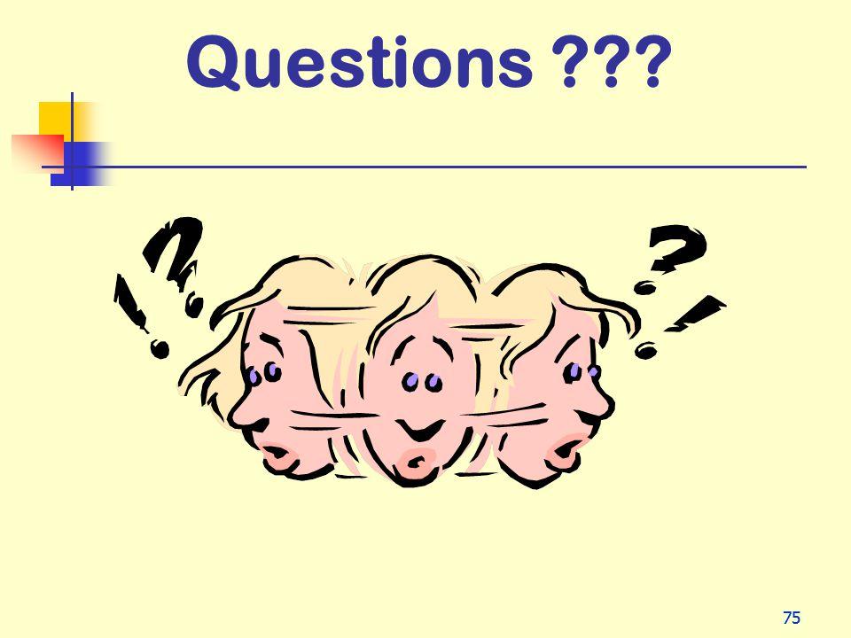 75 Questions ???
